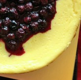 Cheesecake with Blueberry Sauce, $50 (delivery within Singapore), $40 (self collect)