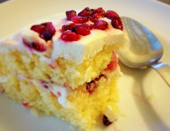 Pomegranate Cake $40 (with delivery within Singapore), $32 (self collect)