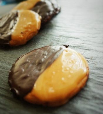 Salted Caramel and Dark Chocolate Cookies, $5 for 6 pieces