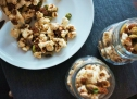 Popcorn with Salted Caramel Sand and Crushed Pistachios, $12 for four 16.5cm X 15.5cm bags.
