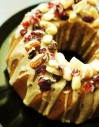 Ginger and orange wreath cake