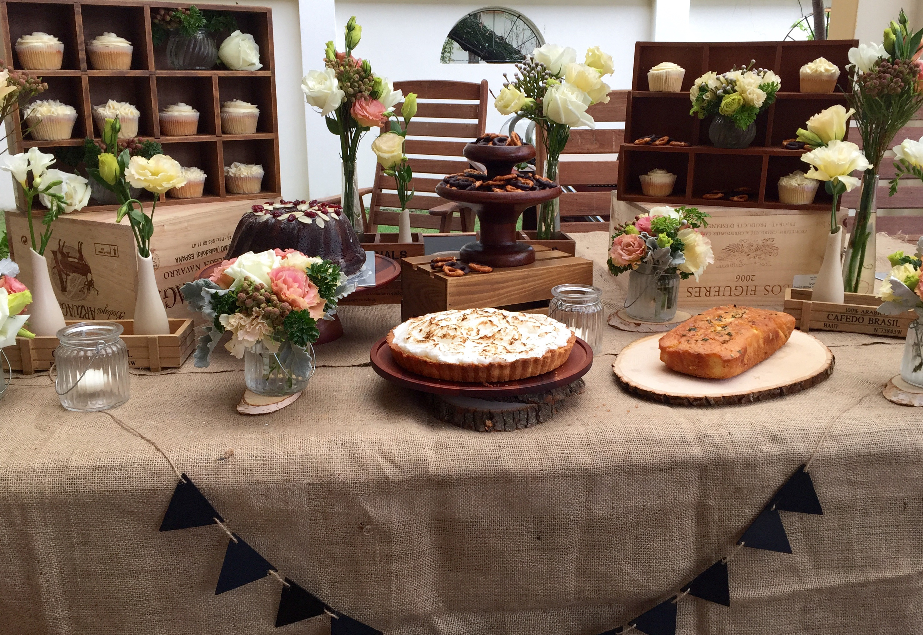 Wooden Candy Table ~ Whisky chocolate bundt cake alpha bakes