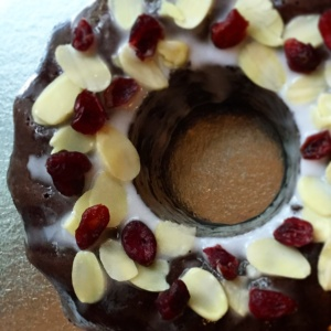 Whisky Chocolate Bundt Cake, $55. Add $10 if you want it delivered.