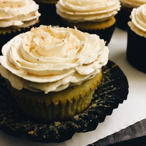 Nasi Lemak cupcake, unwrapped