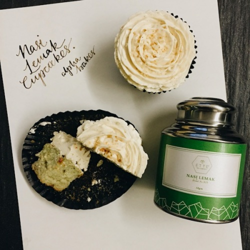 Combining my 3 loves - calligraphy, baking and tea.